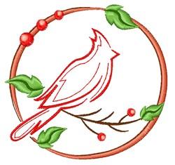 Cardinal Outline embroidery design