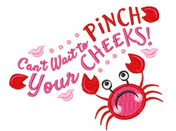 Pinch Your Cheeks embroidery design