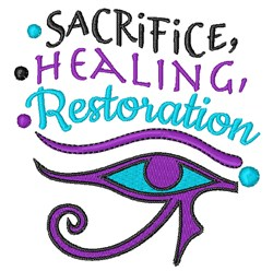 Sacrifice Healing Restoration embroidery design