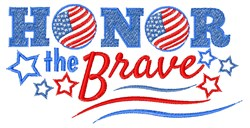 Honor The Brave embroidery design