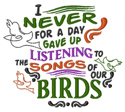 Songs Of Birds embroidery design