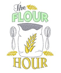 The Flour Hour embroidery design