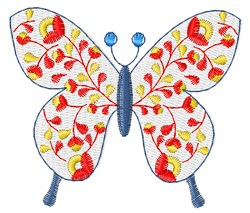 Flower Butterfly embroidery design