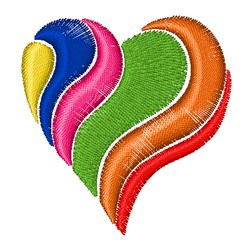 Colorful Heart embroidery design