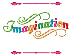 Imagination embroidery design