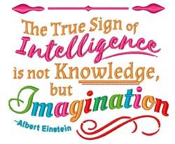 Imagination Einstein Quote embroidery design