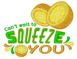 Squeeze You embroidery design