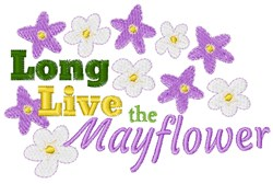 The Mayflower embroidery design