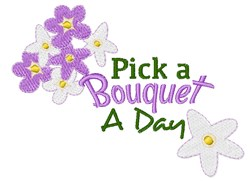 Pick A Bouquet embroidery design