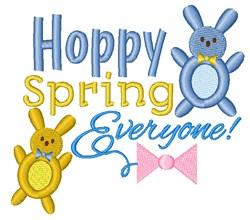 Hoppy Spring embroidery design