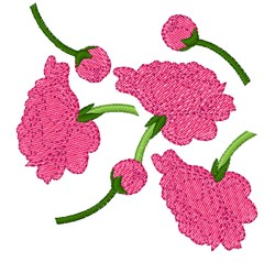 Peony Flowers embroidery design