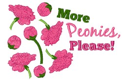 More Peonies embroidery design