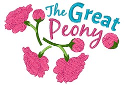 The Great Peony embroidery design