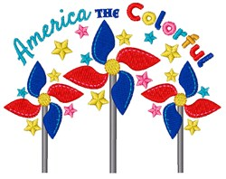 America The Colorful embroidery design