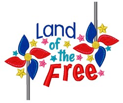 Land Of Free embroidery design