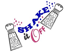 Shake It Off embroidery design