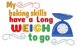 Long Weigh To Go embroidery design