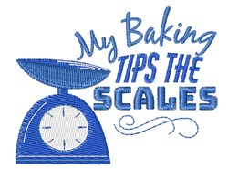 Tips The Scales embroidery design