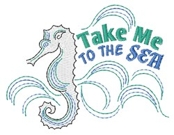 To The Sea embroidery design