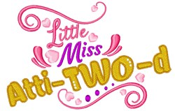 Little Miss Atti-Two-d embroidery design