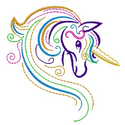 Ripple Unicorn embroidery design