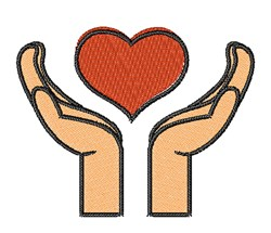 Heart In Hands embroidery design