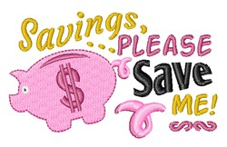 Please Save Me embroidery design