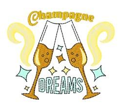 Champagne Dreams embroidery design