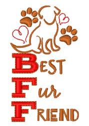 Best Fur Friend embroidery design