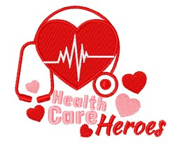 Healthcare Heroes embroidery design