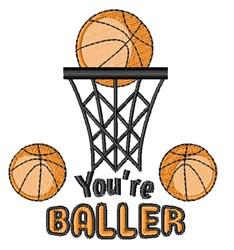 Youre A Baller embroidery design