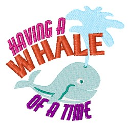 Whale Of Time embroidery design