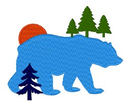 Bear In Trees embroidery design