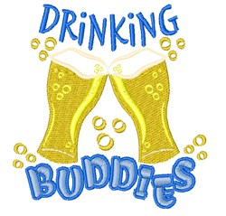 Drinking Buddies embroidery design
