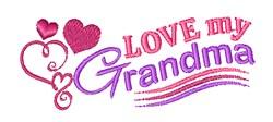 Love My Grandma embroidery design