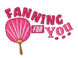 Fanning For You embroidery design