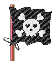 Pirate Flag embroidery design
