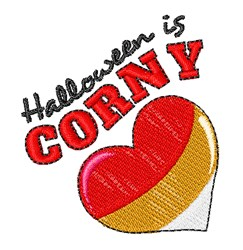 Halloween Is Corny embroidery design