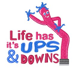 Lifes Ups & Downs embroidery design
