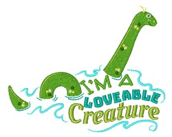 Im A Loveable Creature embroidery design