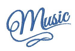 Music embroidery design