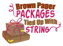Packages Tied Up With String embroidery design