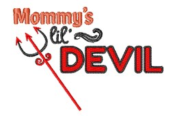 Mommys Lil Devil embroidery design