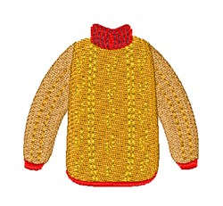 Warm Sweater embroidery design