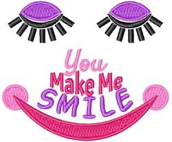 You Make Me Smie embroidery design