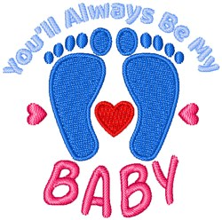 Always Be My Babty embroidery design