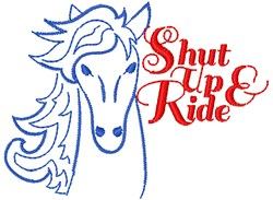 Shut Up & Ride embroidery design