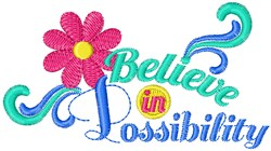 Believe In Possibility embroidery design