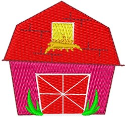 Red Hey Barn embroidery design