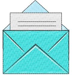 Letter & Envelope embroidery design